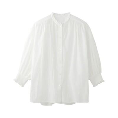 NIMES/ニーム スモッキングシャツ ホワイト F