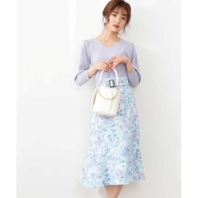 【先行予約3月中旬-3月下旬入荷予定】フラワープリントマーメイドスカート