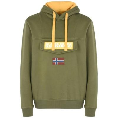 ナパピリ NAPAPIJRI スウェットシャツ ミリタリーグリーン XL コットン 90% / ポリエステル 10% スウェットシャツ