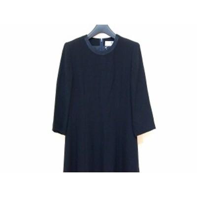 ジバンシー GIVENCHY ワンピース サイズ14 XL レディース 美品 - 黒 七分袖/ロング/肩パッド【中古】20201129