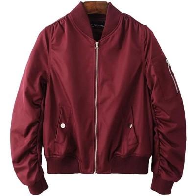 Blissmall MA-1ブルゾンレディースMA1ミリタリージャケットフライトジャケット綿薄手カジュアル春秋のコート楽しく選べる全10色BB10(S