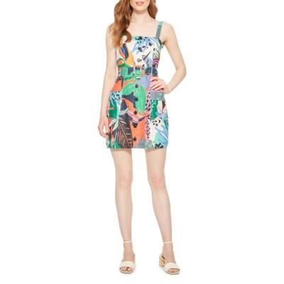 パーカー レディース ワンピース トップス Weslyn Tropical-Print Linen Dress