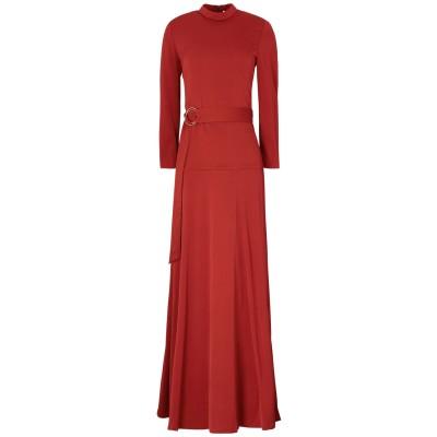 IVY & OAK ロングワンピース&ドレス 赤茶色 34 レーヨン 99% / ポリウレタン 1% ロングワンピース&ドレス