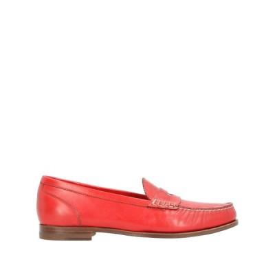 サントーニ SANTONI  レディース モカシン 靴 レッド