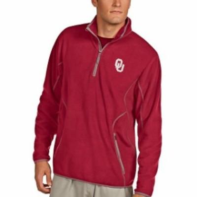 Antigua アンティグア スポーツ用品  Antigua Oklahoma Sooners Crimson Ice Quarter-Zip Jacket
