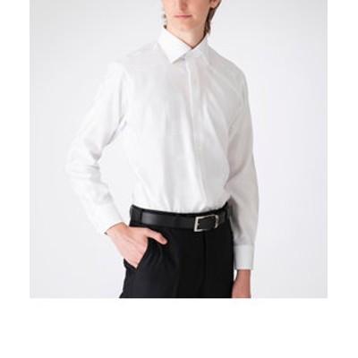 シャドークレストブリッジチェックセミワイドカラーシャツ