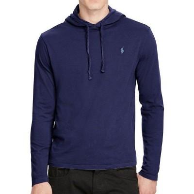 ラルフローレン メンズ パーカー・スウェットシャツ アウター Cotton Jersey Long-Sleeve Hoodie Tee Newport Navy