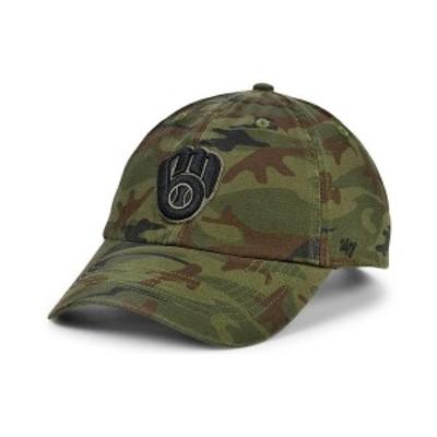47ブランド メンズ 帽子 アクセサリー Milwaukee Brewers Regiment CLEAN UP Cap Gray