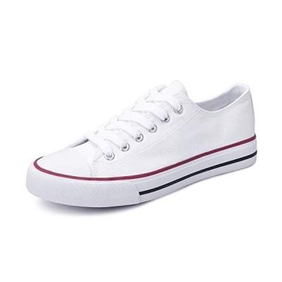 Obtaom Women's Canvas Shoes Low Top Fashion Sneakers Slip on Walking Shoe(White US10)【並行輸入品】