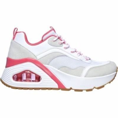 スケッチャーズ Skechers レディース スニーカー シューズ・靴 Uno Hi Trainers White/Pink