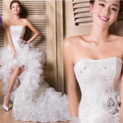 ロングドレスウェディングドレス マキシワンピース 結婚式 ドレス カラードレス フォーマル 発表会ドレス パーティードレス レディース 大人 Aライン