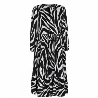ビバ Biba レディース ワンピース ワンピース・ドレス Peasent Dress Zebra Print