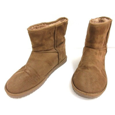 【中古】フェイクムートン ブーツ ボア LLL ブラウン系 シューズ 靴 レディース 【ベクトル 古着】