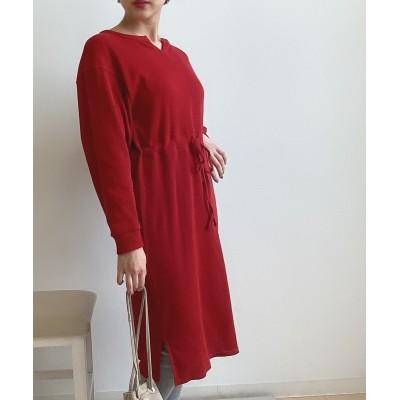 小さいサイズ ワッフルドロストワンピース 【小さいサイズ・小柄・プチ】ワンピース, Dress