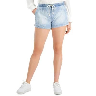 セレブリティピンク レディース ハーフパンツ・ショーツ ボトムス Juniors' Pull-On Jean Shorts