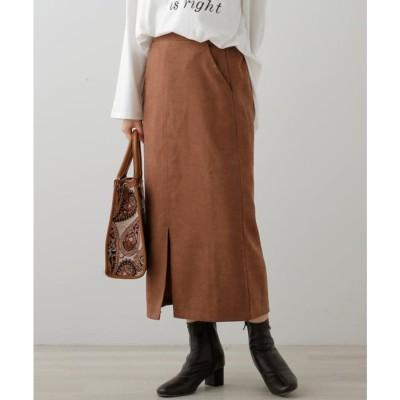 フレームスレイカズン frames RAY CASSIN 起毛ツイルベーシックナロースカート (ベージュ)