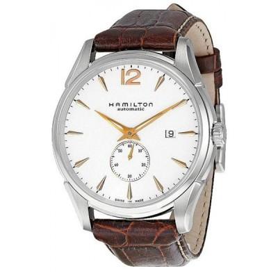ハミルトン メンズ ジャズマスター SMALL SECOND AUTO 自動巻き スモールセコンド ブラウン レザー H38655515 あすつく 腕時計