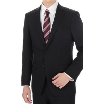 スタイリッシュスーツ【就活】【黒無地】【ツーパンツ】