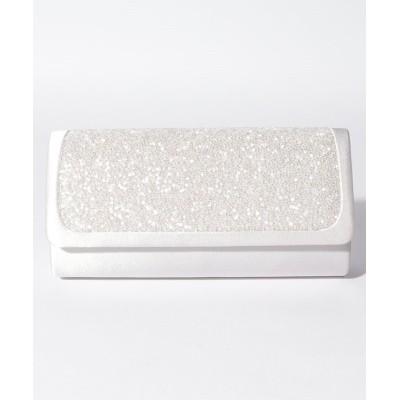 【フォルムフォルマ】 ビーズ刺繍キラキラクラッチバッグ レディース シルバー FREE form forma