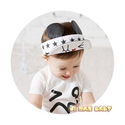 在庫処分 ベビー帽子 ハット 赤ちゃん帽子 ベビーハット ネズミ耳付き 清々しい 夏 遠足 男女兼用 可愛いらしさアップ〜  男の子 男女兼用 幼児帽