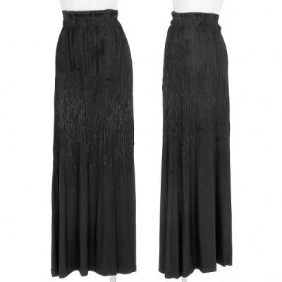 ゴルチエジーンズGAULTIER JEAN'S ベロアフロッキーストレッチスカート 黒L 【レディース】