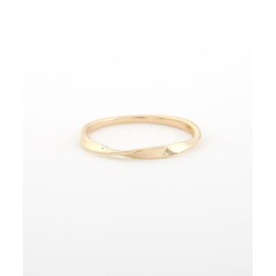 指輪 K10YGレイヤー ツイスト リング