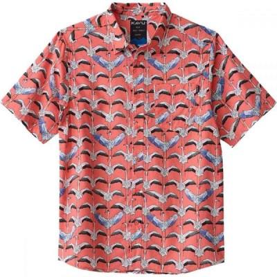 カブー KAVU メンズ 半袖シャツ トップス the jam short-sleeve shirt Flamingo Flys North