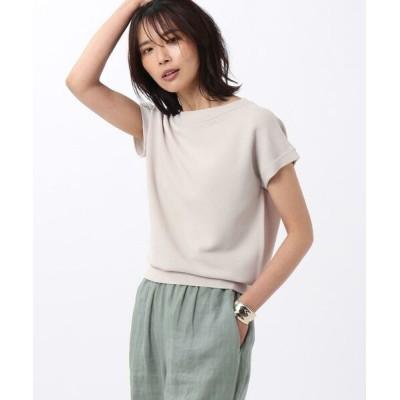 UNTITLED/アンタイトル 【洗える】クリアレーヨン モックネックニット グレー(010) 02(M)