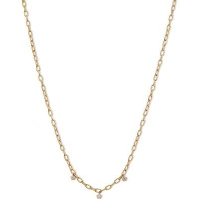 """ナドリ AVA NADRI レディース ネックレス 18k Gold-Plated Link & Cubic Zirconia Shaky Charm Collar Necklace, 16"""" + 2"""" extender Gold"""