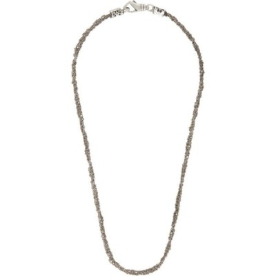 エマニュエレ ビコッキ Emanuele Bicocchi メンズ ネックレス ジュエリー・アクセサリー Silver Crocheted Long Necklace Silver