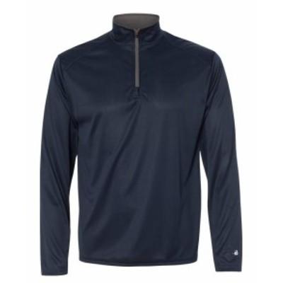 ファッション トップス Badger Mens B-Core Quarter-Zip Pullover 4102 S-2XL