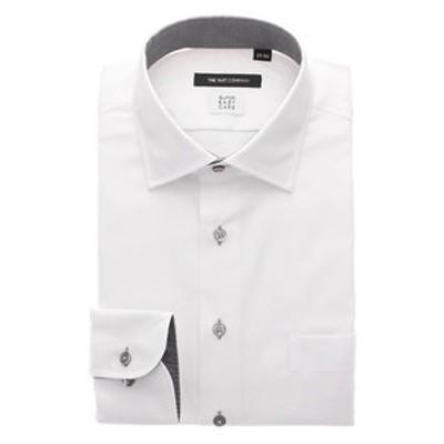 【SUPER EASY CARE・再生繊維】ワイドカラードレスシャツ 織柄〔EC・BASIC〕