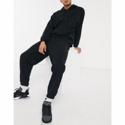 エイソス ASOS DESIGN メンズ ジョガーパンツ ボトムス・パンツ Co-Ord Oversized Polar Fleece Joggers ブラック