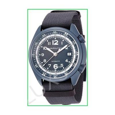 Hamilton Men's Khaki Aviation Swiss-Automatic Watch with Canvas Strap, Blue, 22 (Model: H80495845) 並行輸入品