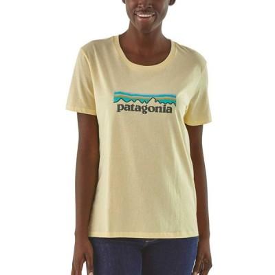 パタゴニア Patagonia レディース Tシャツ トップス Pastel P-6 Logo Organic Crew T-Shirt Resin Yellow
