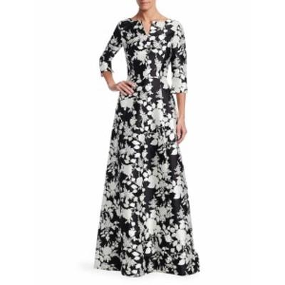 オスカーデラレンタ レディース ワンピース Floral Flare Gown