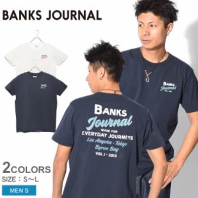【メール便可】バンクス ジャーナル 半袖 Tシャツ メンズ アンコールクラシックTシャツ ホワイト 白 ネイビー BANKS JOURNAL WTS0447 ト