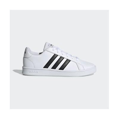 (adidas/アディダス)子供用 グランドコート [Grand Court Shoes]/キッズ ホワイト