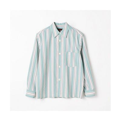 <CABaN/キャバン> コットンマルチストライプ オーバーサイズシャツ 54グリーンケイ【三越伊勢丹/公式】