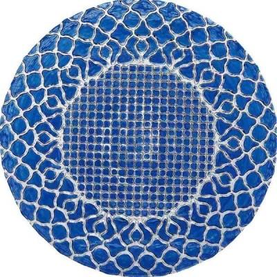 ミヤザキ食器 ハナ チャージャープレート ブルー 33cm HA3301BL <RHN7601>