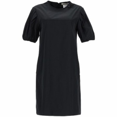 MAX MARA/マックス マーラ Black s max mara taffeta dress with jewel embroidery レディース 秋冬2020 DRESS ik