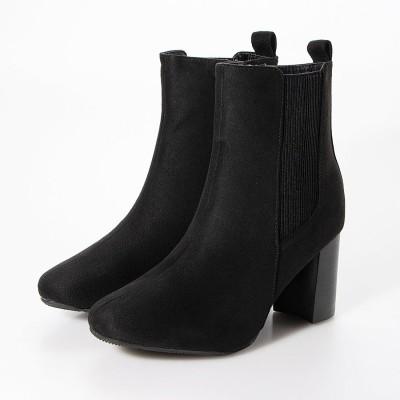 マフモフ Mafmof Realta(レアルタ) ラウンドトゥサイドゴアミドル ブーツ (ブラック・スエード)