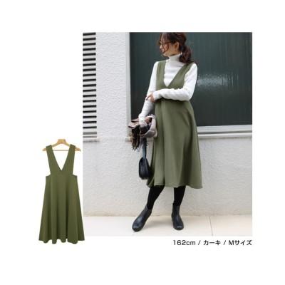 Vネックジャンパースカート (ジャンスカ)Skirts