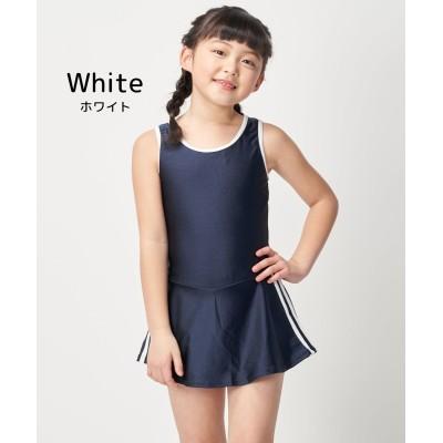 【ディアコロン】 スクール水着 女の子 ワンピース インナーパンツ付き 三本ライン sksb3013s スクール水着, Kid's Swimsuit