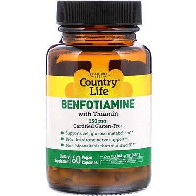 Benfotiamine with Thiamin, 150 mg, 60 Vegan Capsules