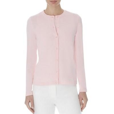 アンクライン レディース Tシャツ トップス Button Front Long Sleeve Cardigan Light Aster