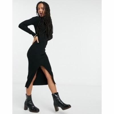 ワイ エー エス Y.A.S レディース ワンピース ワンピース・ドレス . long sleeve roll neck jumper dress in black ブラック