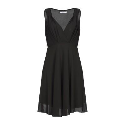 LANACAPRINA ミニワンピース&ドレス ブラック 42 ポリエステル 100% ミニワンピース&ドレス