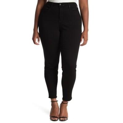 エヌワイディージェイ レディース デニムパンツ ボトムス Ami Skinny Legging Jeans (Plus Size) BLACK