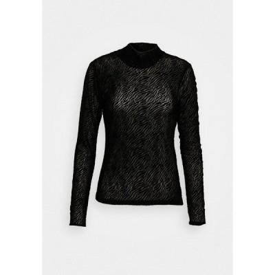 ヴェロモーダ カットソー レディース トップス VMKELLY HIGH NECK - Long sleeved top - black